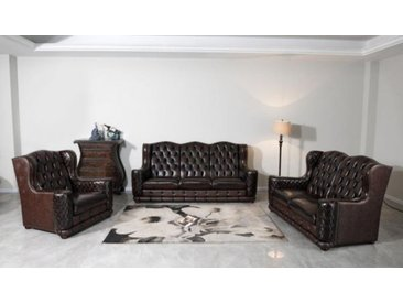 XL Luxus Chesterfield Watford Sofagarnitur (3/2/1 oder 3/1/1) Ledergarnitur S...