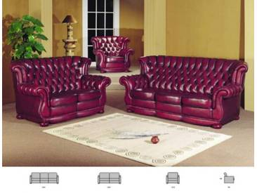Chesterfield Sofagarnitur Coventry 3/2/1 Ledergarnitur Von Salottini  Sonderpreis