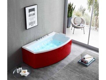 1 Pers Luxus Whirlpool 170x97 Baldeney Badewanne Whirlwanne Wasserfall Rot