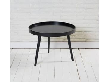 Couchtisch Beistelltisch rund matt schwarz 60x45cm Retro Design Tisch
