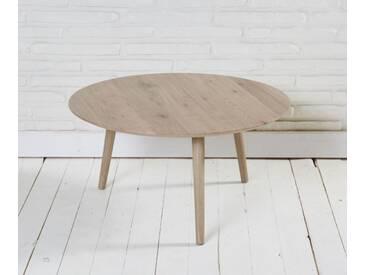Couchtisch Beistelltisch rund natur 70x35cm Scandi Design Retro Tisch