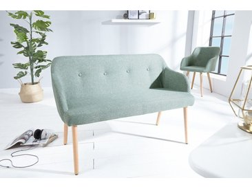 Design Sitzbank SCANDINAVIA MEISTERSTÜCK 116cm grün Buchenholz mit Armlehne