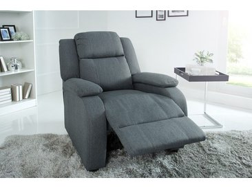 Moderner Relaxsessel HOLLYWOOD grau Fernsehsessel mit Liegefunktion