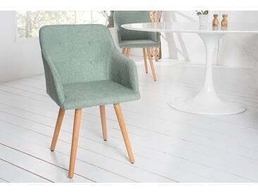 Retro Design Stuhl SCANDINAVIA MEISTERSTÜCK grün mit Armlehne