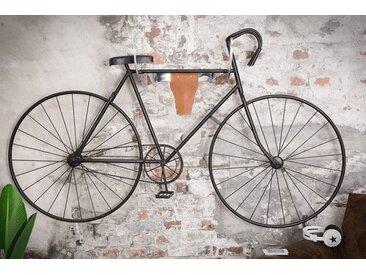 Design Fahrradaufhänger Stierkopf II 50cm silber Echtleder Wanddekoration