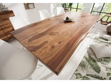 Massiver Baumstamm Tisch MAMMUT 200cm Sheesham 4cm Tischplatte Baumtisch