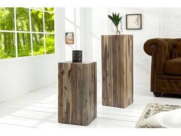 Hochwertige Treibholz Dekosäule COLUMNA 25cm vintage Beistelltisch