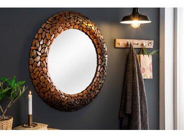 Glänzender Spiegel STONE MOSAIC 82cm kupfer Handarbeit Mosaik Optik