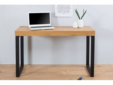 Design Laptoptisch OAK DESK Eiche Vintage Metallgestell schwarz