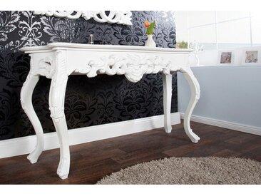 Elegante Konsole VENICE 110cm weiß Barock Design Anrichte handgearbeitet Laptoptisch