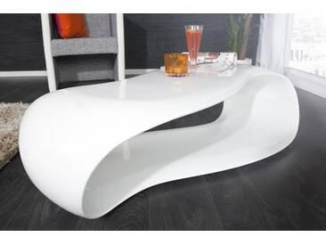 Moderner Couchtisch STREAM 110cm weiß Hochglanz