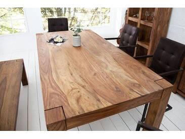 Exklusiver Massiver Sheesham Esstisch MAKASSAR 200cm Tisch einzigartige Maserung