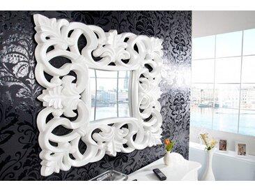 Eleganter Wandspiegel VENICE 75x75cm weiß antik Barockstil