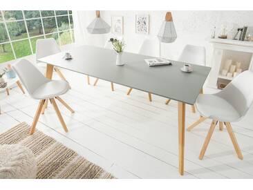 Moderner Esstisch SCANDINAVIA MEISTERSTÜCK 160cm grau Eiche Scandi Design