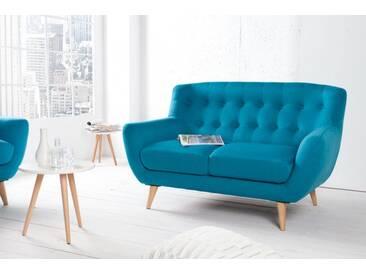 Design 2er Sofa SCANDINAVIA MEISTERSTÜCK 140cm petrol 2-Sitzer