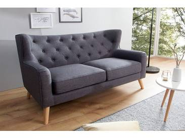 Modernes Design Sofa HYGGE anthrazit 145cm 2-Sitzer Scandiavian Design