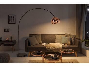 Ausziehbare Bogenlampe LOUNGE DEAL 170-210 cm roségold Stehlampe Stehleuchte