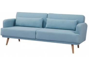 Elegantes 3-Sitzer Sofa STUDIO 214cm aqua inkl. Kissen mit Schlaffunktion