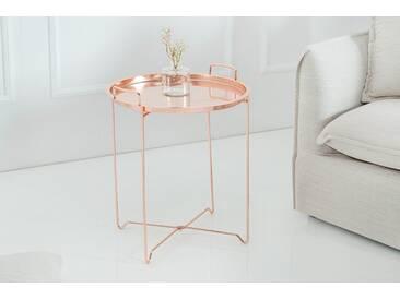 Orientalischer Beistelltisch MARRAKESCH Tablett-Tisch 45 cm klappbar kupfer