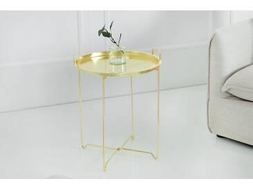 Orientalischer Beistelltisch MARRAKESCH Tablett-Tisch 45 cm klappbar gold