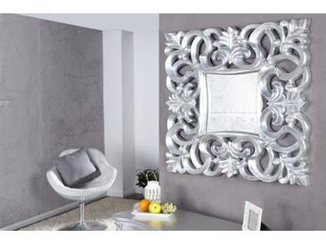 Opulenter Barock Spiegel VENICE  75cm silber antik Wandspiegel