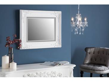 Filigraner Rock Barock Spiegel SPECULUM antik weiß 55x45cm Wandspiegel