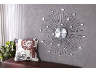 Extravagante Wanduhr SUNBURST 50cm mit Kristallen
