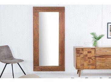 Massivholz Wandspiegel HEMINGWAY 180x80cm aus recyceltem Teakholz