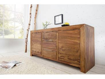 Massives Sideboard PURE 135cm Sheesham stone finish Palisander