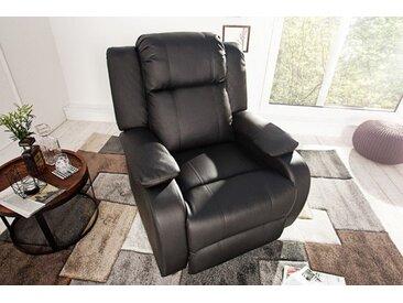 Moderner Relaxsessel HOLLYWOOD schwarz Fernsehsessel mit Liegefunktion