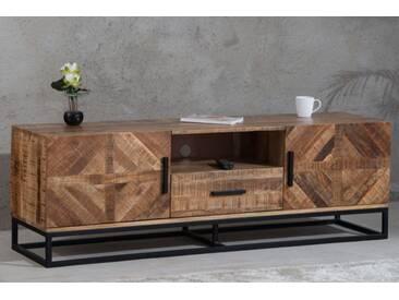 Massives TV-Board INFINITY 160cm Mangoholz Industrial Design