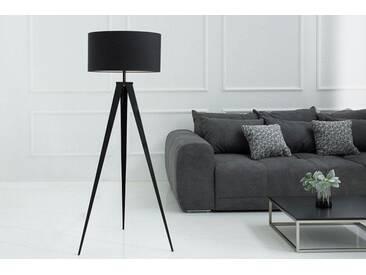 Elegante Stehleuchte TRIPOD 142cm schwarz Retro Stehlampe