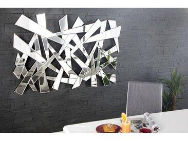 Moderner Wandspiegel SPLIT 120x80cm mit Facettenschliff variabel aufhängbar