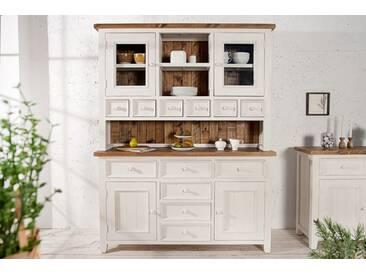 Hochwertiges Buffet BYRON Pinienholz weiß vintage braun