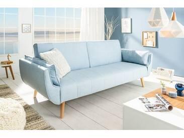 Design Schlafsofa DIVANI 215cm hellblau Bettfunktion Scandinavian Design