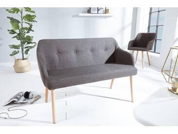 Design Sitzbank SCANDINAVIA MEISTERSTÜCK grau Buchenholz mit Armlehne