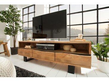 Massives TV-Board MAMMUT 160cm Akazie Metall Baumkante Lowboard