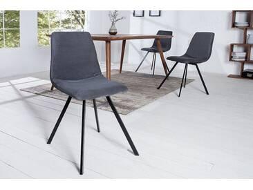 Retro Stuhl AMSTERDAM CHAIR dunkelgrau Cord Designklassiker