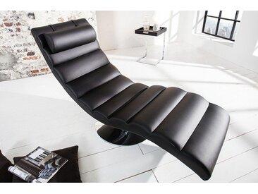 Moderne Design Liege RELAXO 170cm schwarz mit Steppung Relaxliege