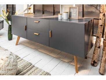 Design Sideboard SCANDINAVIA MEISTERSTÜCK 160cm grau Echt Eiche