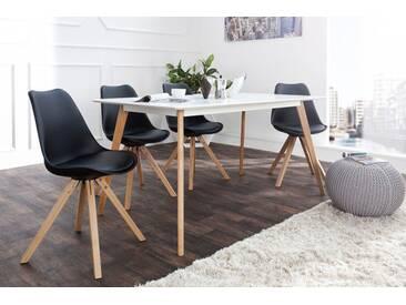 Retro Stuhl SCANDINAVIA MEISTERSTÜCK schwarz mit Massivholzbeinen