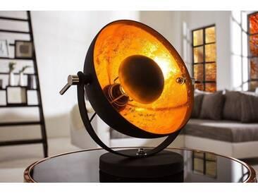 Moderne Tischlampe STUDIO 40 cm schwarz gold Lampe