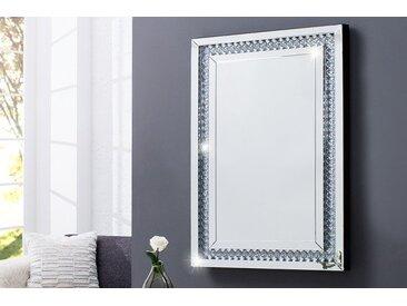 Luxuriöser Design Wandspiegel BRILLIANT 90x60cm mit Strass-Steinen