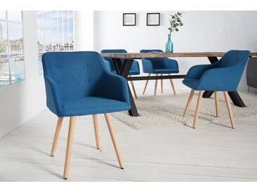 Retro Design Stuhl SCANDINAVIA MEISTERSTÜCK blau mit Armlehne