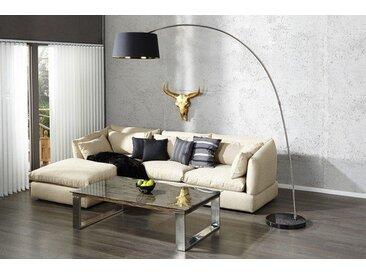 Design Stehleuchte FORMA 215cm schwarz gold Bogenlampe Bogenleuchte