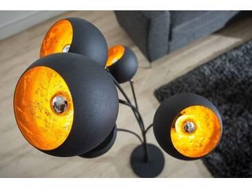 Moderne Design Stehlampe MAGMA 170cm schwarz gold Lampe