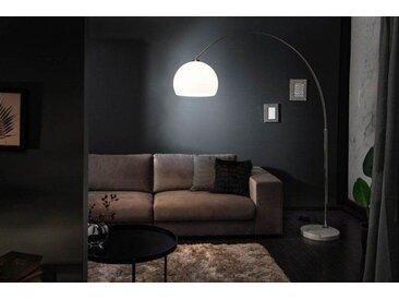 Ausziehbare Bogenlampe LOUNGE DEAL 185-205cm weiß dimmbar Stehlampe