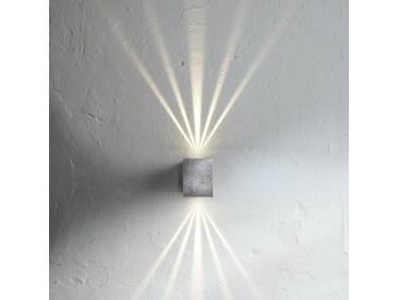 LED Wandleuchte Canto Kubi verzinkt mit Lichtschablonen - Wand- & Deckenleuchte - EEK A [A++ bis E]