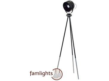 famlights | Stehleuchte Samantha aus Metall in Schwarz 1xE27 max.60W - Tripod Stehlampe - EEK A++ [A++ bis E]
