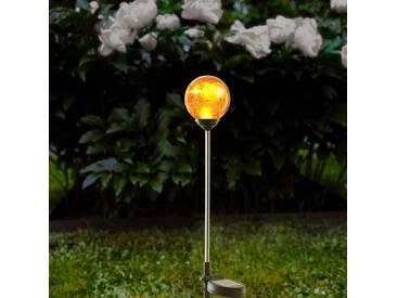 Erdspießleuchte Roma mit amberfarbigen Glas, 680 mm, inkl. Sensor und LED - Dekobeleuchtung & Lichtobjekte - EEK A+ [A++ bis E]